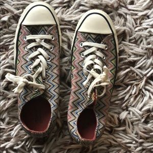 Missoni for Converse chevron low top sneakers